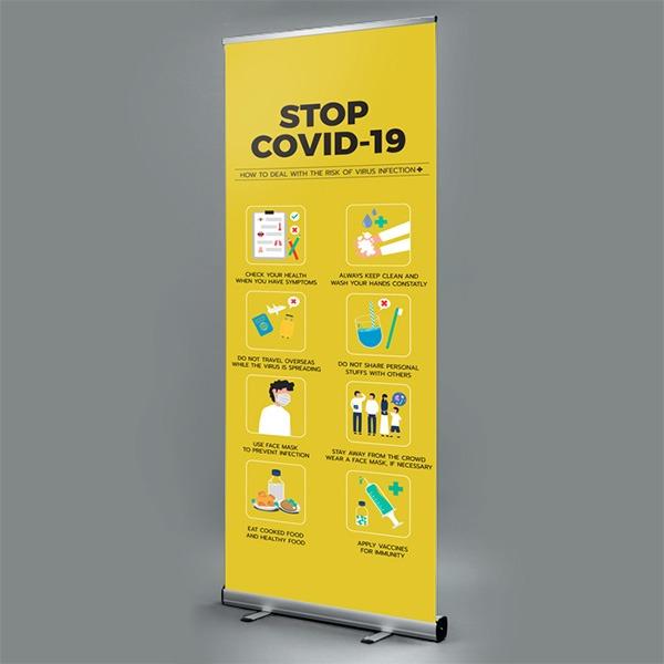 covid19 roller banner