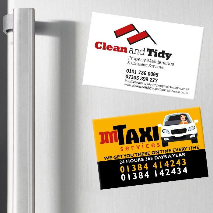 magnetic fridge business cards