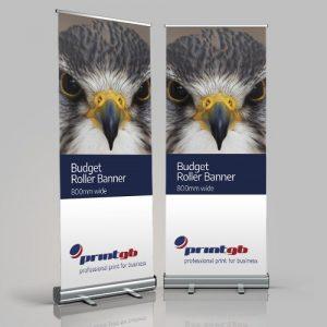 budget roller banner 800mm wide roller banners