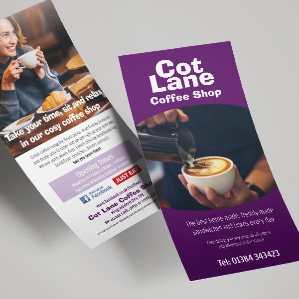 DL leaflets for cafes